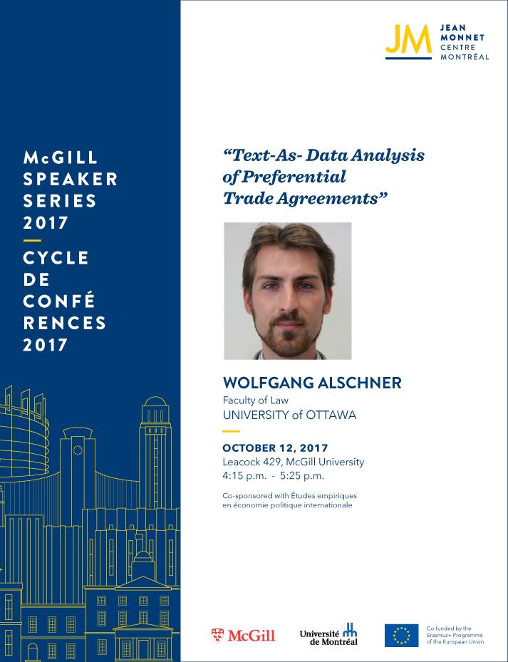 EU Speaker Series: Wolfgang Alschner