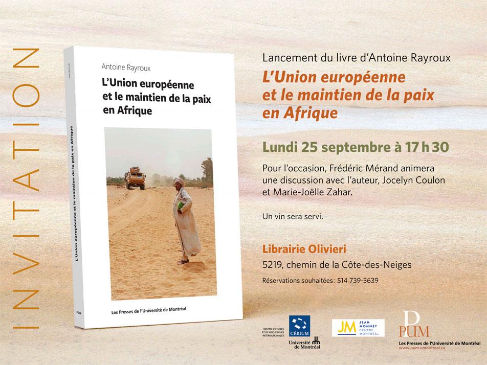 Antoine Rayroux lancement de livre